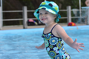 cute toddler at lake lisgar waterpark