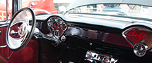 dashboard of classic car