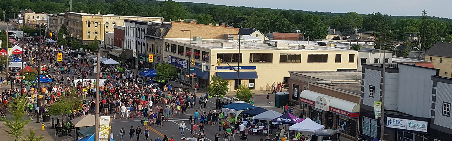 view of Turtlefest Block Party from roof